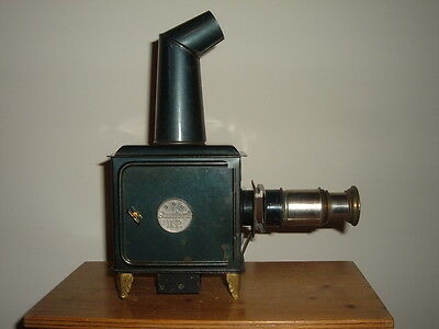 Antique Child's Toy Magic Lantern By Ernest Plank Of Germany With 12 Slides