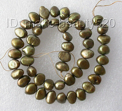 wholesale 5pcs 11mm chocolate baroque freshwater pearl necklace loose bead s156
