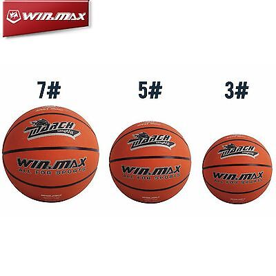 WINMAX Mens Rubber Basketball Outdoor Basket Ball Game Sports Size 3/5/7