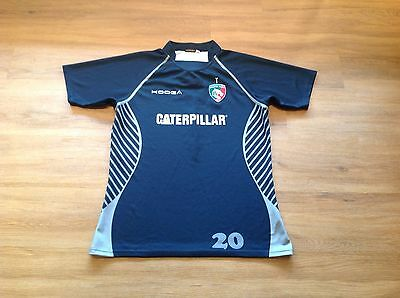"""Leicester Tigers Player Issue Training Rugby Shirt.  3XL. 46/48"""" Chest."""