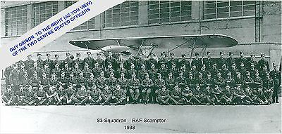 Guy Gibson - Group Photo 83 Squadron & Hawker Hind (1938) Ww2 -Dambuster In 1943