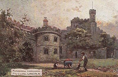'Tuck' postcard of Lincoln Castle. - unposted.