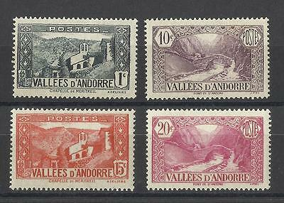 French Andorra - 1932 stamps - 4 values - MNH - Cat value £27
