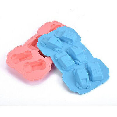 1 Pcs 6 Cars Silicone Muffin Cookie Cup Cake Baking Mould Chocolate Maker