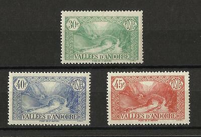 French Andorra - 1932 stamps - 3 values - MNH - Cat value £45