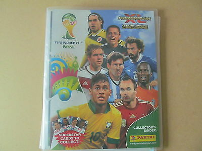 Panini Adrenalyn XL 2014 Brasil World Cup Binder with 25 cards one ltd edition