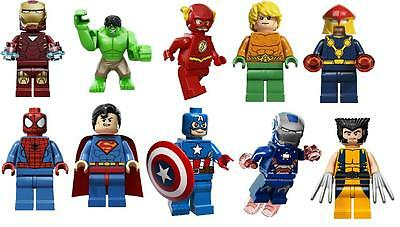 10 lego superheroes   PHOTO PAPER  WALL STICKERS 3 SIZES A6 A5 A4