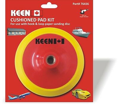 """Pack of 1, Keen #76436, 5"""" x 5/8""""-11 Hook + Loop Face Cushioned Backup Pad"""