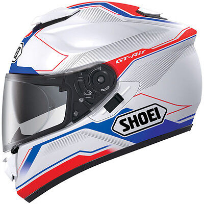 Shoei GT Air Journey TC 2 - Full Face Touring Motorcycle Helmet Blue Red  M