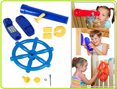 Pirate Steering Wheel+Telescope+Phone PERFECT SET FOR CLIMBING FRAME