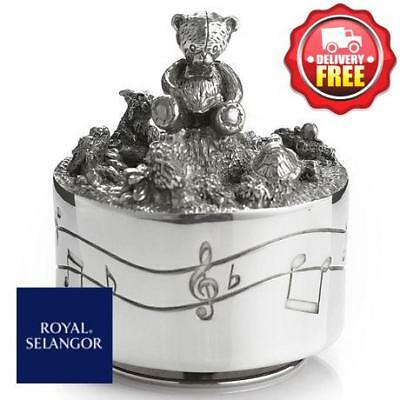 Royal Selangor Friends Pewter Music Carousel | Baby Christening Gift