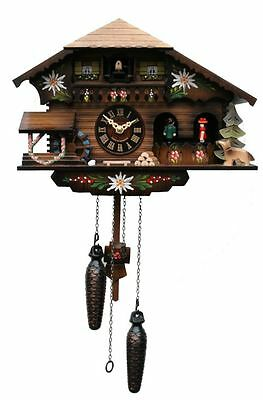 Engstler Quartz Cuckoo Clock - Alpine Log House AH 400 QMT NEW