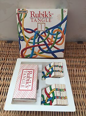 Rare Rubik's Tangle Vintage Original Set Puzzle Game Complete Boxed