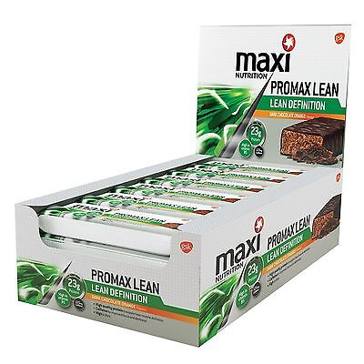MaxiNutrition  maximuscle Promax Lean Protein Bars 12 x 50g Chocolate Orange