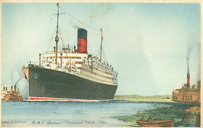 1920s Postcard Cunard White Star Liner RMS Laconia