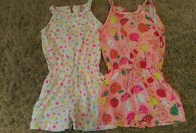 Girls playsuits size 3-4 years