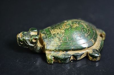 Unique Chinese old jade carved dragon turtle statue  JP193