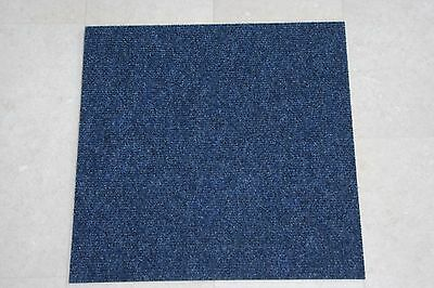 Quality Bedford Blue Carpet Tiles Commercial Domestic Office Heavy Use Flooring