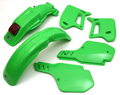 UFO Kawasaki Motocross Enduro KDX 200 1989 - 1994 Plastic Kit OEM colours Green