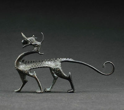 Collectibles Decorated Handwork Bronze Carving Dragon Statue