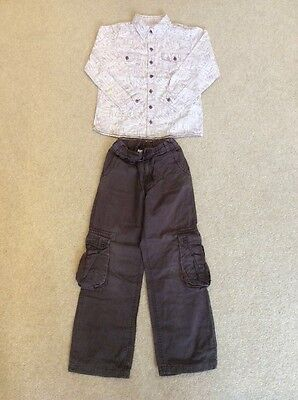 Monsoon boys shirt and trousers (7-8 years)