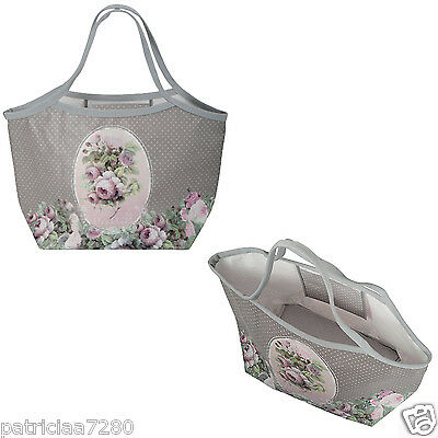 "Grand Sac Cabas City ""mille Roses"" Pour Courses Shopping Femme - Orval Creations"