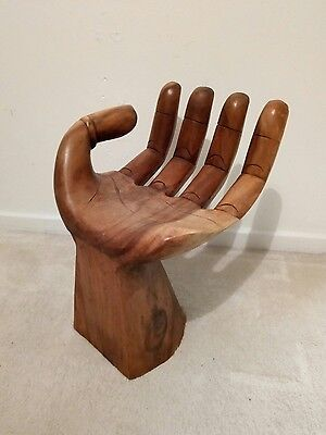 Lovely Small Carved Hand Seat, Stool, Chair, Ornament, Side Table