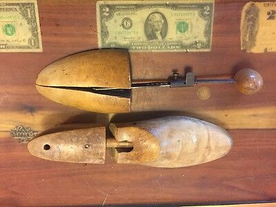 Vintage Rochester Shoe Tree , Shoe Stretchers , Wooden Lot Of 2