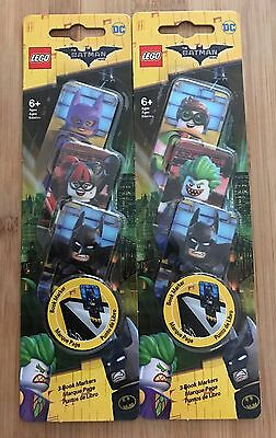 Lego Batman Movie Lenticular Book Markers Set New Sealed Rare