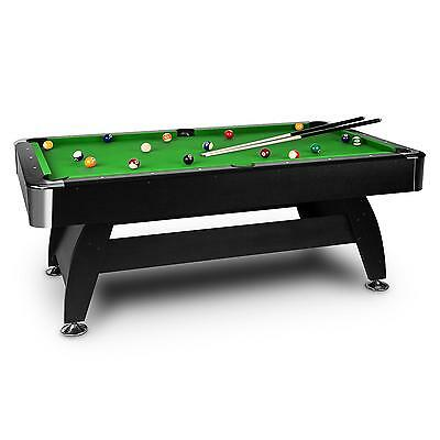 Oneconcept Billiard Table 7 Feet Pool Play Sports 16 Ball Green Cloth *freep&p*