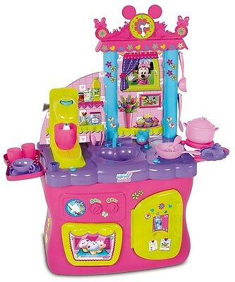 Disney Minnie Mouse Kitchen Exciting Fun Play Features Perfect Kids Gift Set