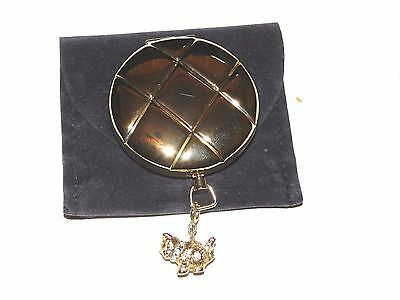 Estee Lauder Pocket Watch Style With Cat Charm Lucidity Powder Compact