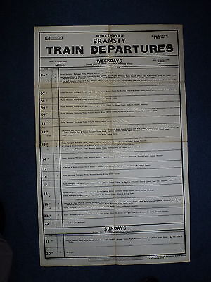 British Rail: Trains from Whitehaven Bransty: Large Poster: 1967/68