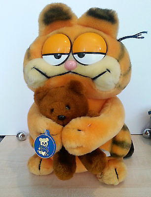 """Vintage DAKIN GARFIELD & POOKY Plush Doll 12"""" LARGE HTF 1983 with tag"""