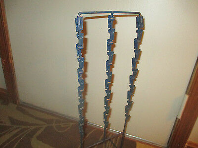 """Vintage Metal Chip Clip Rack Standing Countertop Display 22.5"""" tall w/30 clips"""