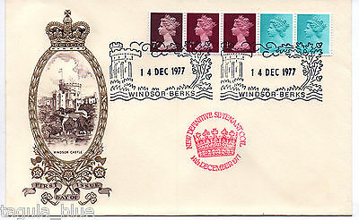 14-12-1977 Definitive Se-tenant Coil First Day Cover WINDSOR BERKS special h/s