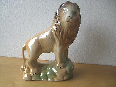 "Lion Ornament, Lustre, Made in Brazil Brasil. About 7.5"" High."