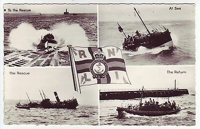 Vintage RNLI Lifeboat to the Rescue postcard