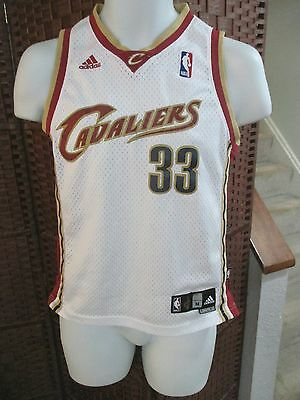 Adidas Shaquille O'Neal Cleveland Cavaliers Jersey Youth Medium Sewn White NBA