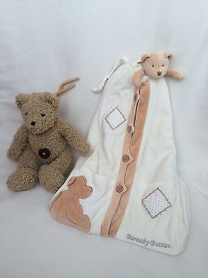 Mamas & Papas Barnaby Button Unisex Nappy Stacker & Barnaby Button Musical Bear