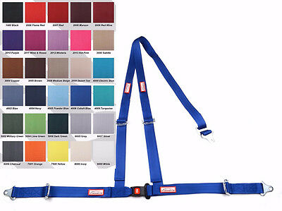 "Off Road  2"" Seat Belt 3 Point B&t Y Harness Blue 30 Colors To Choose From"