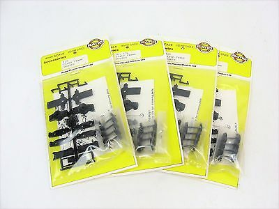 Ratio 126 Plate Frame Bogies Wheel Trucks OO/HO Gauge 4mm Scale -  Qty 4 pairs