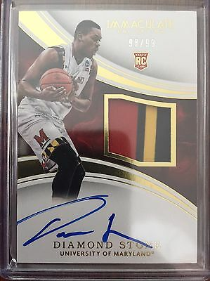 2016-17 Immaculate Collegiate DIAMOND STONE 3 color Auto PATCH RC /99 RPA 16-17