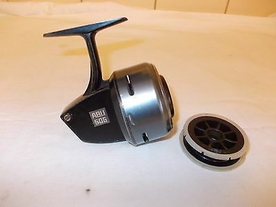 VINTAGE ABU 506 CLOSED FACE REEL + SPARE SPOOL --- In good Used condition.