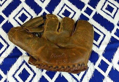 1950's-60's Rawlings Dick Groat Baseball Glove, Vintage Decor Distressed Leather