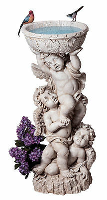 Baby Angel Sculpture In The Baroque Style Trio Cherubs with Urn Garden Statue