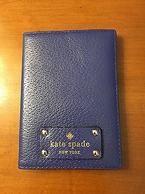 Kate Spade Leather Blue Passport Holder