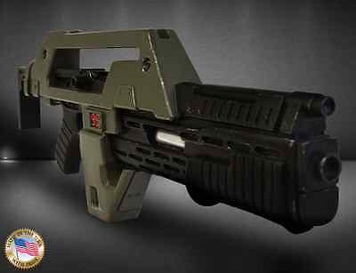 Aliens Pulse Rifle OD Green (Weathered) LIMITED EDITION PROP REPLICA 1:1 US MADE