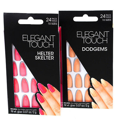 Wholesale Job Lot Elegant Touch False Nail Pack Of 10 (5 Of Pink & 5 Of Peach )