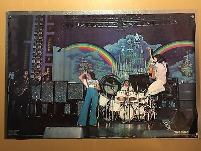 Rare The Who Concert Poster 70s George Davis is Innoncent Townshend Daltrey Moon